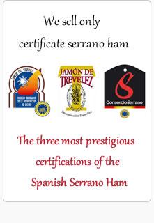 Certificate Spanish Serrano Ham